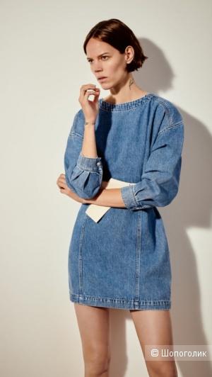 Платье с поясом Zara M