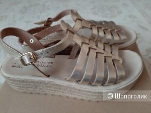 Кожаные сандалии-эспадрильи Klimatsakis, размер 38 EU (37 rus)