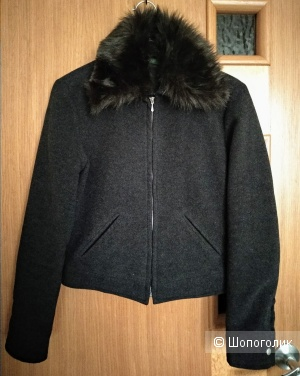 Шерстяная демисезонная куртка, бомбер, Benetton, Италия, S