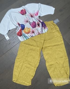 Комплект брюки PURE LINO и джемпер Moda Italia, one size