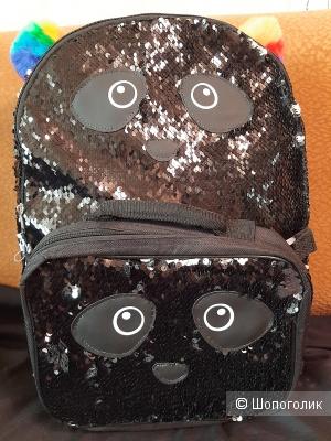 Рюкзак с пайетками..высота 43см.