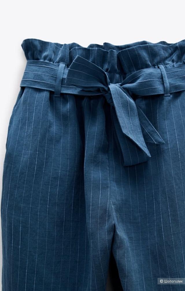 Брюки с поясом Zara S