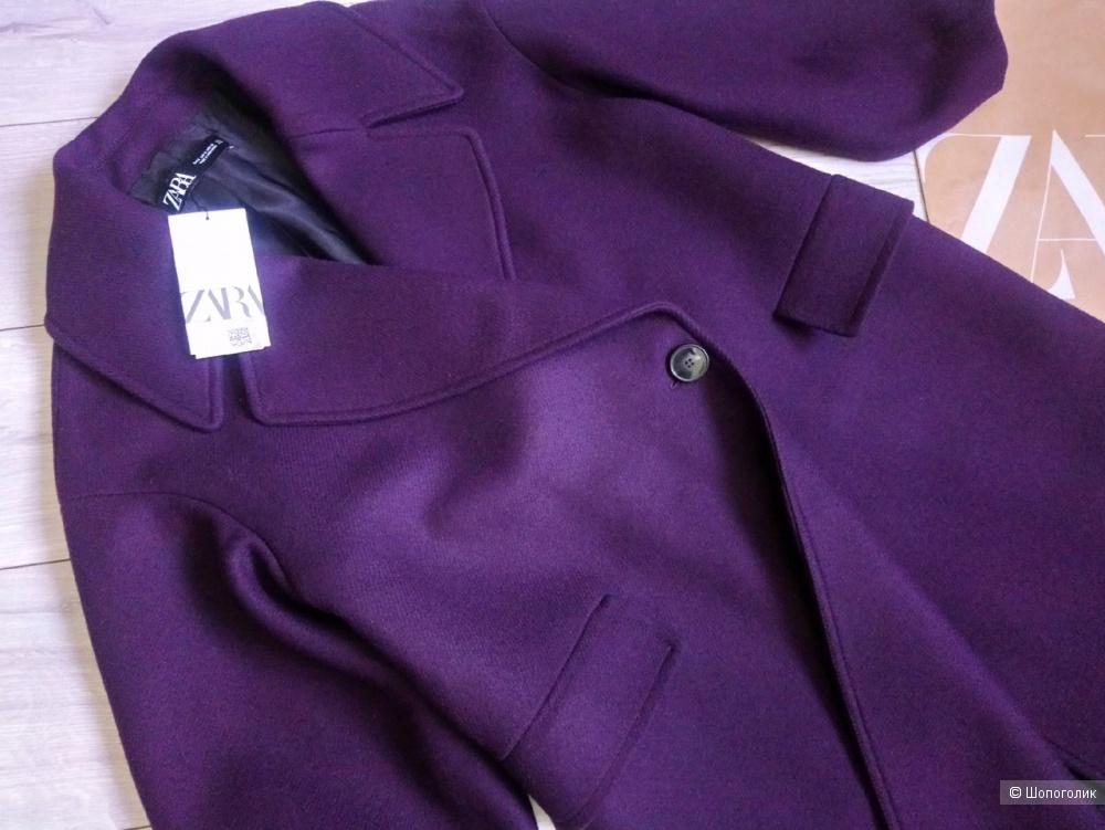 Шерстяное пальто ZARA новое, размер S/M