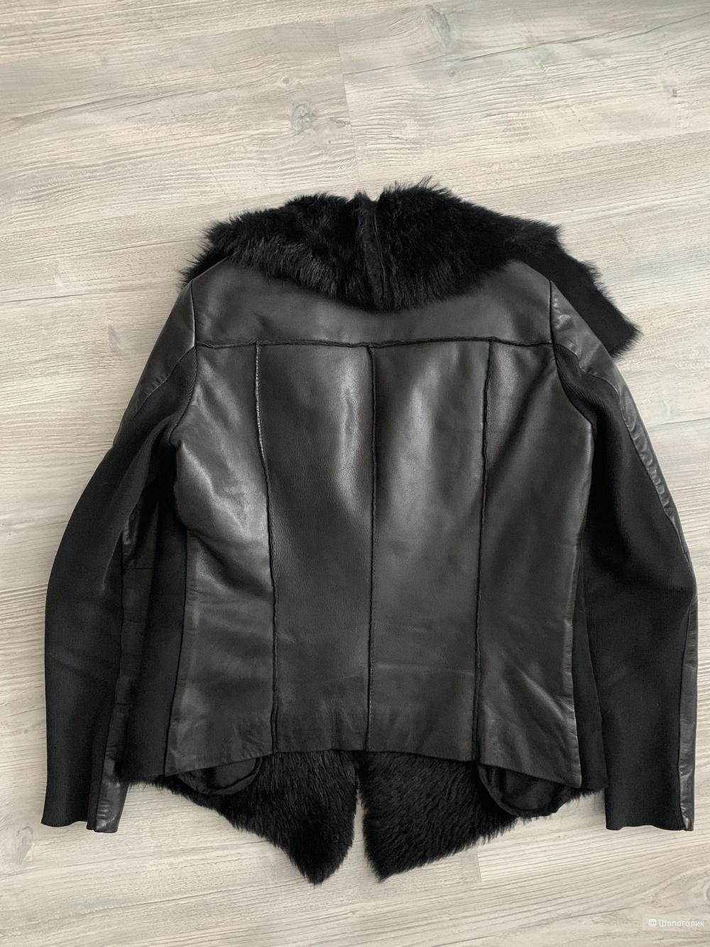 Куртка кожаная Muubaa Heneley Shearling, р.42