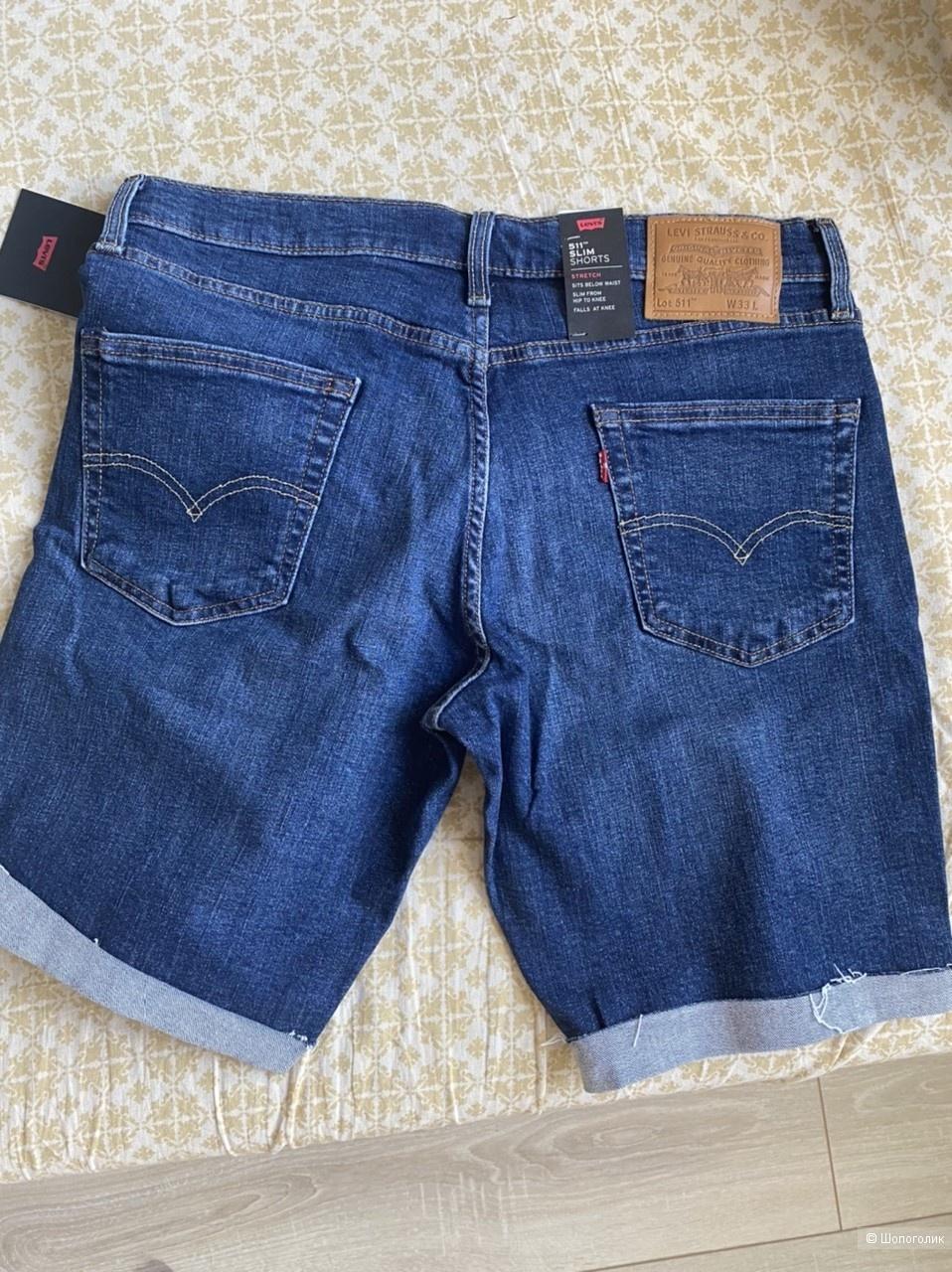 Шорты джинсовые Levi's, размер 33