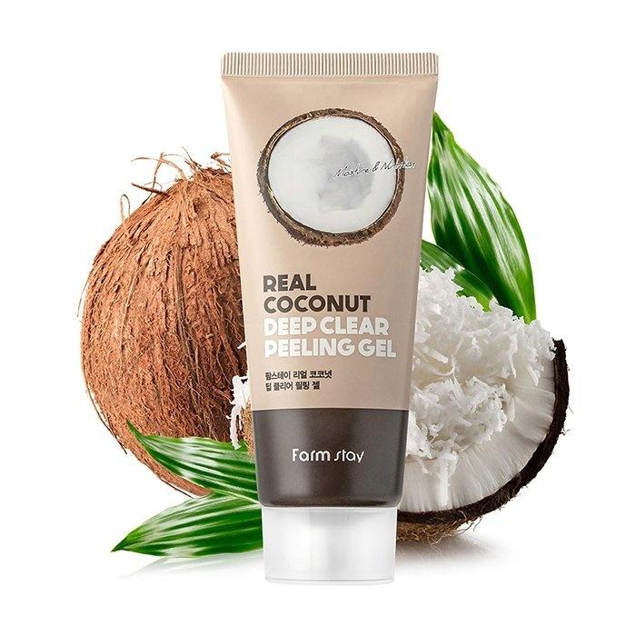 Farm Stay Real Coconut Deep Clear Peeling Gel Пиллинг-гель для глубокого очищения с кокосом, 100 мл