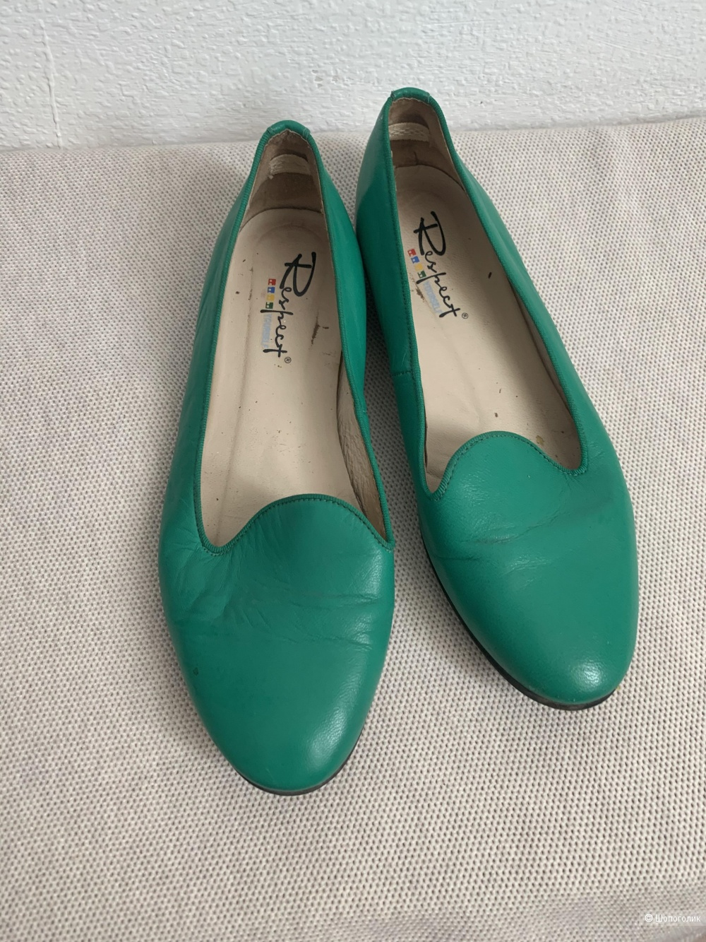 Балетки зеленого цвета Respect