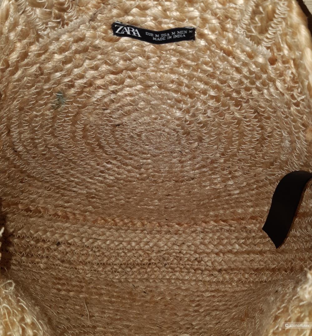 Соломенная сумка zara, размер uno