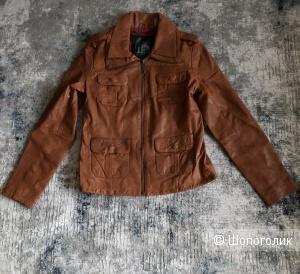 Кожаная куртка GET, p. M