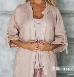 Рубашка накидка  кружево PURE LINO, one size