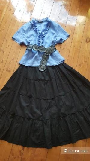Сет из блузки WITTEVEEN и юбки H&M с ремнем, размер 48-52