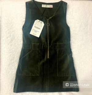 Платье-сарафан бренда Zara Girls размер 5 лет 110 см