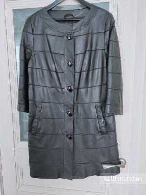 Кожаное пальто 48-50