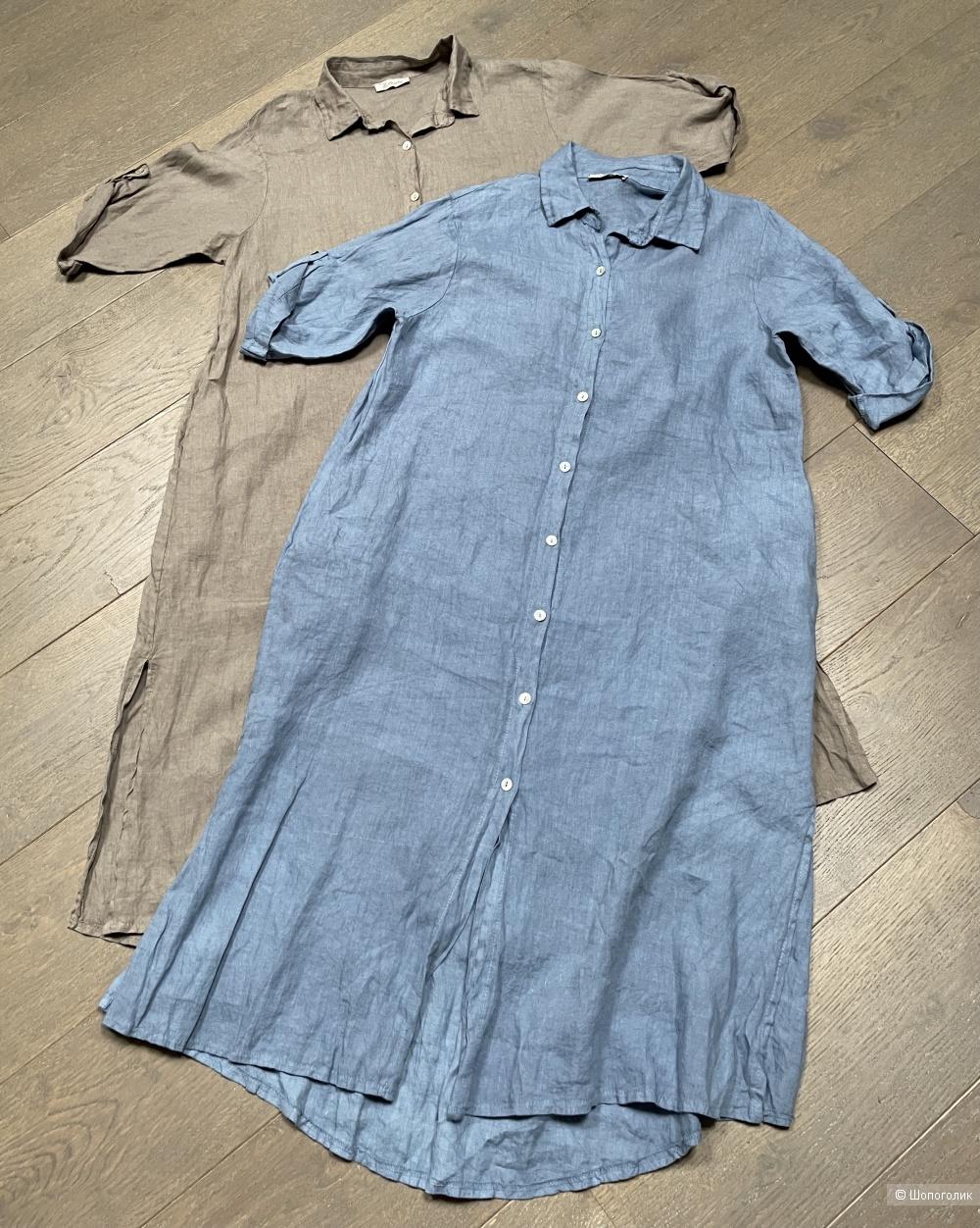 Платье рубашка лен ZELANTE, one size