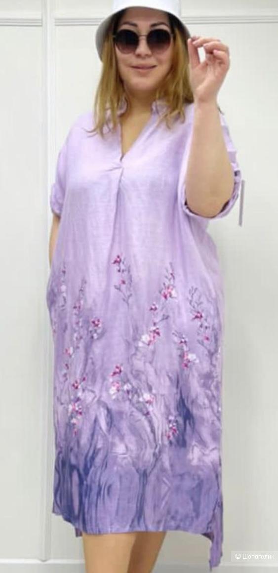 Платье лен Lino fiore italy, 46-54