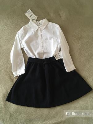 Сет рубашка+юбка Zara 116-122