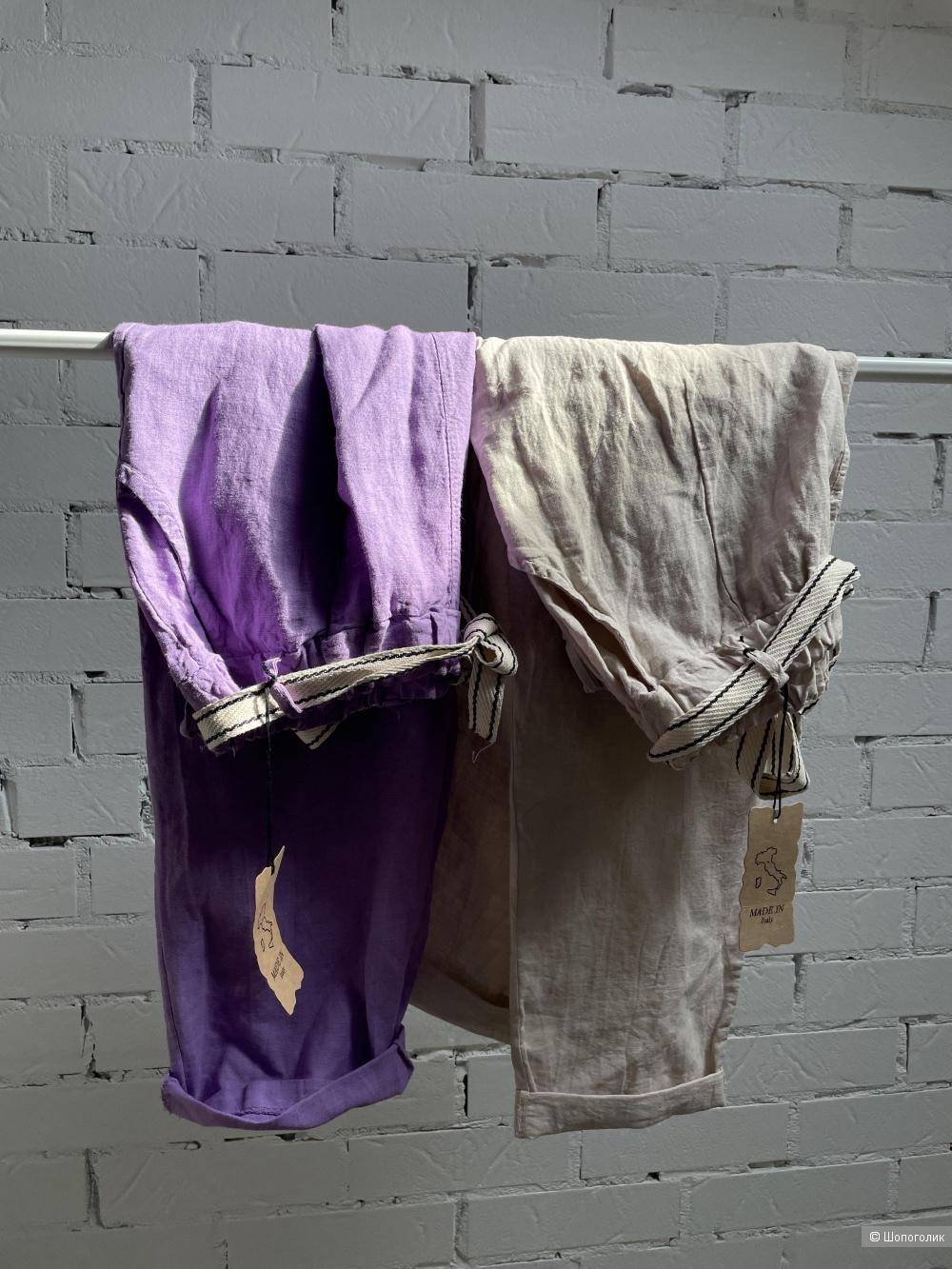 Комплект брюки лен/футболка Италия SET ITALIA , 42-50