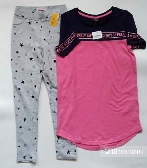 Трегинсы и платье-футболка YOUNGSTYLE 140-146см.