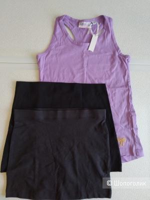 Сет юбка pepperts+ юбка no name + майка knit so bad размер 10/11 лет