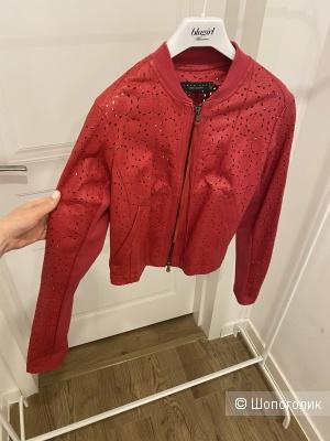 Кожаная куртка twin set, размер М