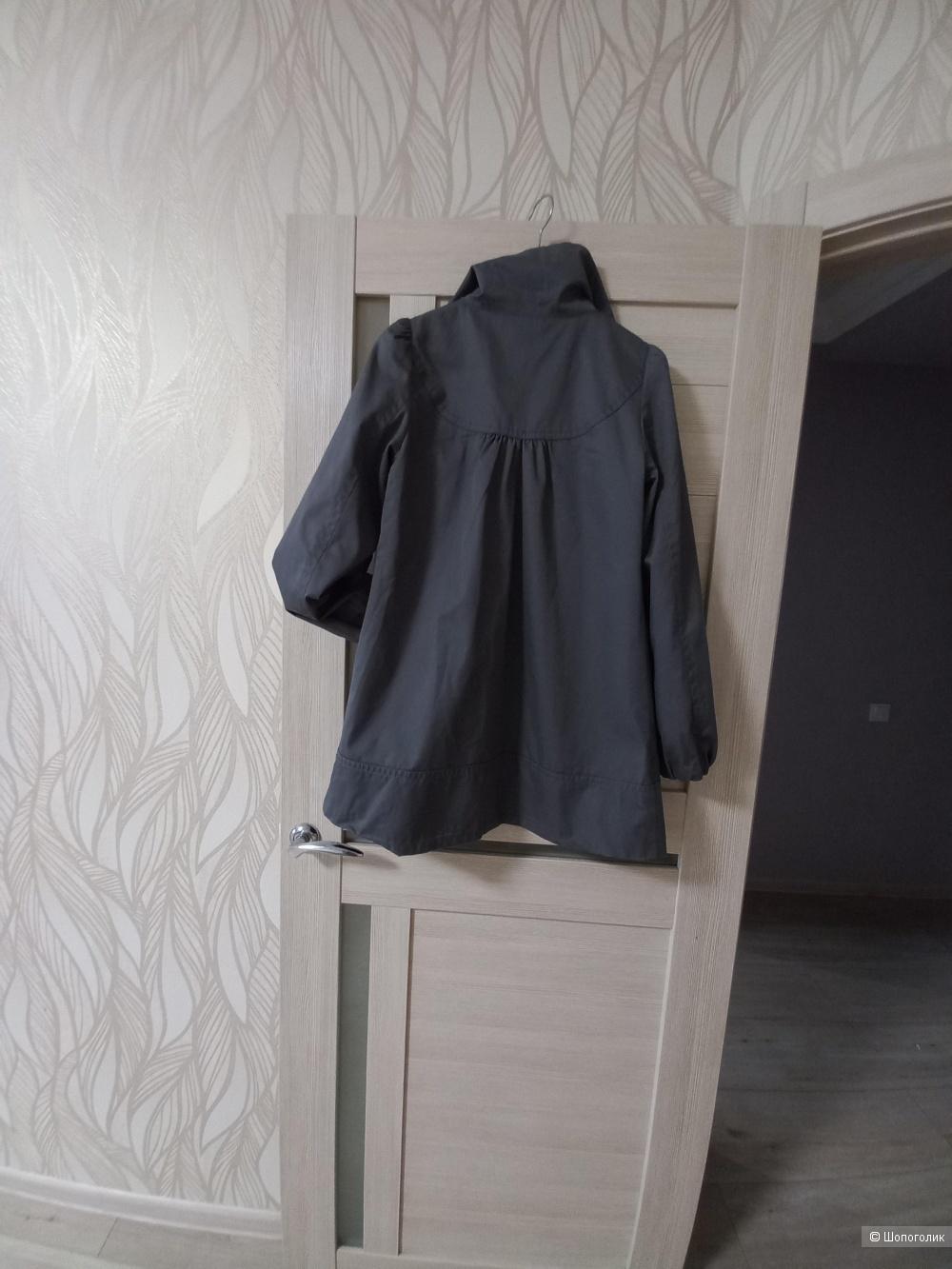 Серый тренч H&M 46