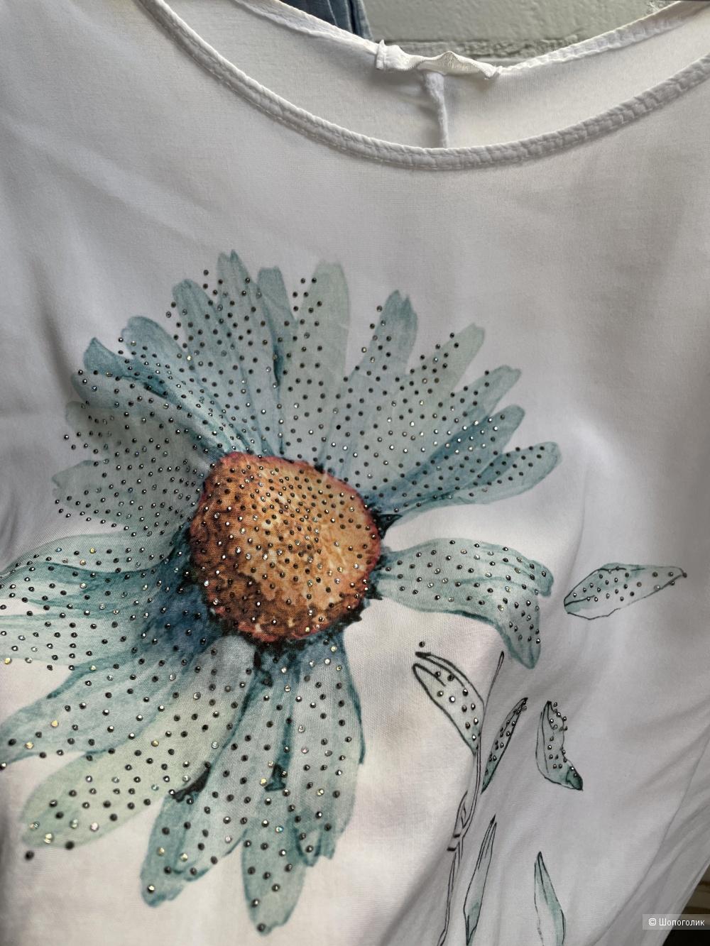 Блуза футболка FLOWER CHOOSEKIND, oversize