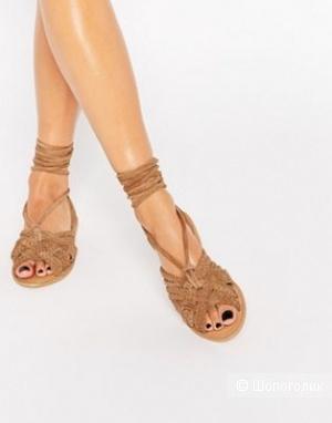 Замшевые сандалии с завязками ASOS FRESHERS, UK 8