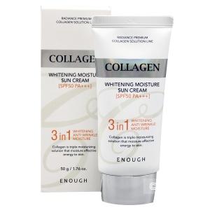 Enough Collagen 3in1 Whitening Moisture Sun Сream SPF50 PA+++ Солнцезащитный крем с морским коллагеном 50 г