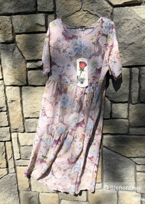 Платье штапель Rose pastello, 48-54