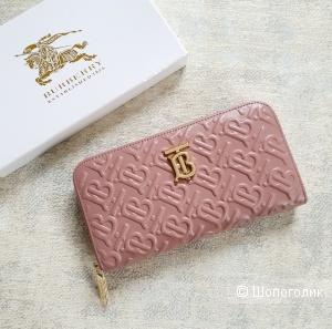 Кошелек Burberry женский кожаный розовый