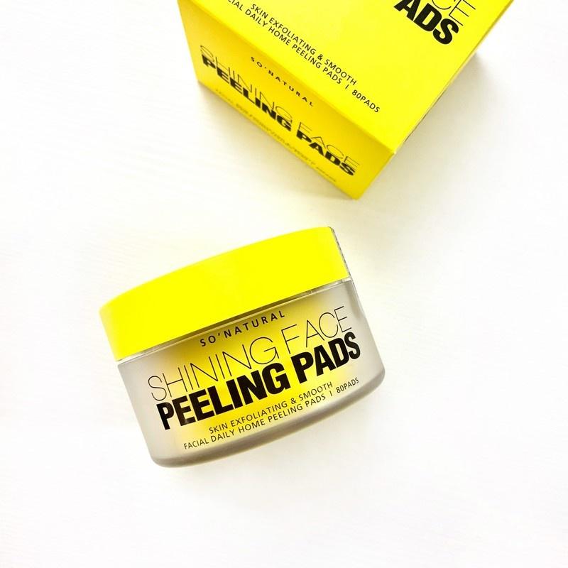 Пилинг-пэды с витамином С So'Natural Shining Face Peeling Pads