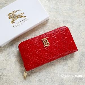 Кошелек Burberry женский кожаный красный