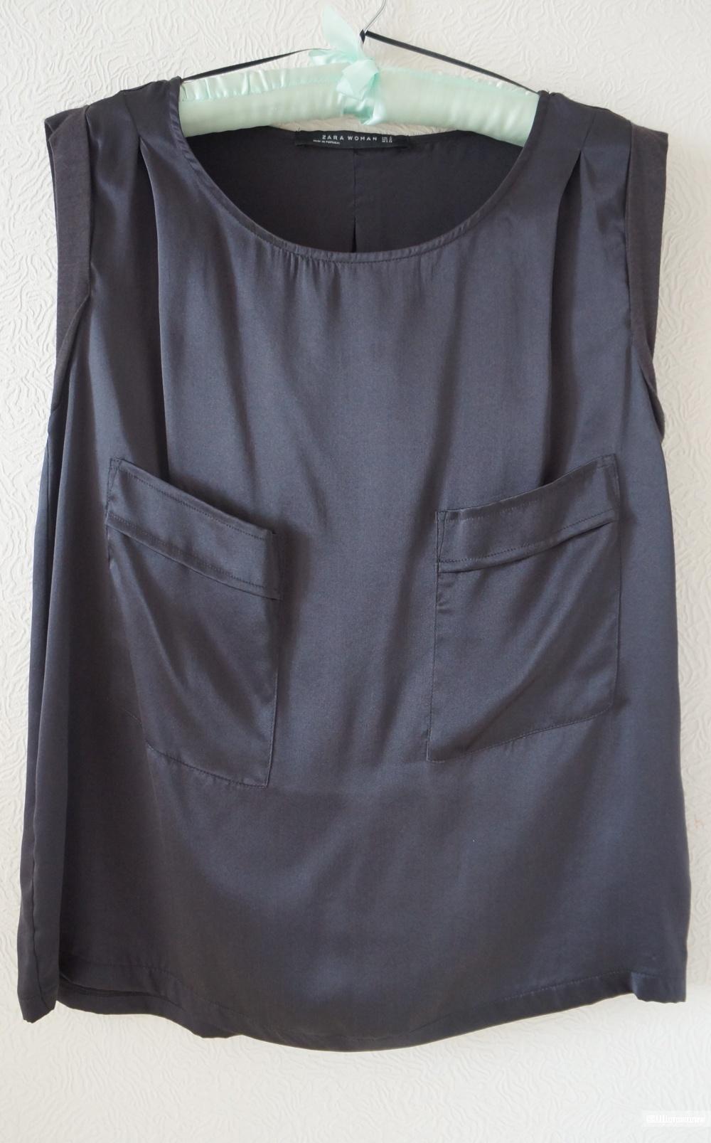 Шелковый топ Zara, размер 44-46