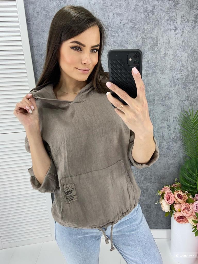 Рубашка худи ITALY 100% LINO natural, 44-52