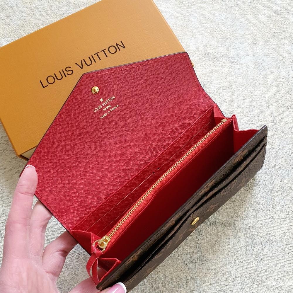 Кошелек Louis Vuitton Sarah женский красный