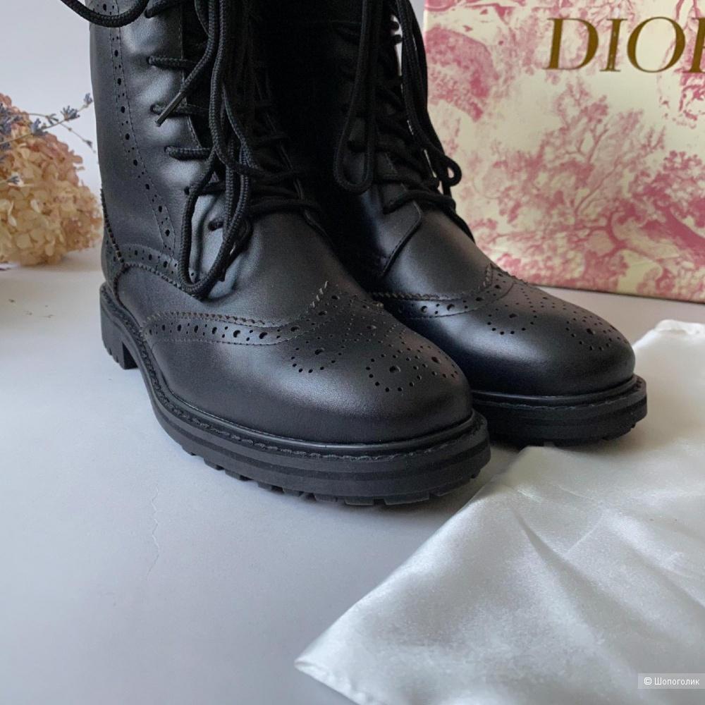 Ботинки женские Christian Dior кожаные 38 размер (25 см)