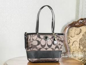 Сумка-шоппер женская, - Coach Signature Stripe, medium.