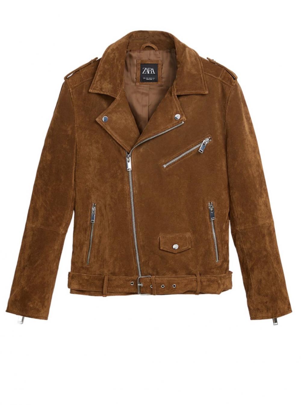 Кожаная куртка Zara, размер XL