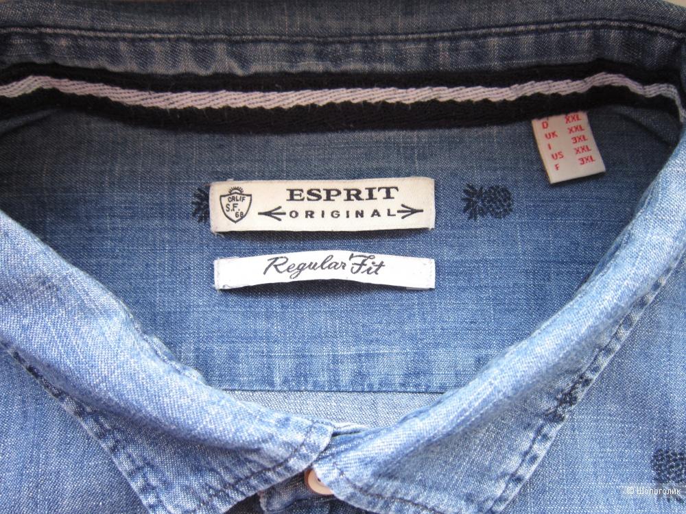 Джинсовая рубашка, Esprit, 58/60 размер, XXL, plus size.