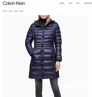Пуховик Calvin Klein размер XC