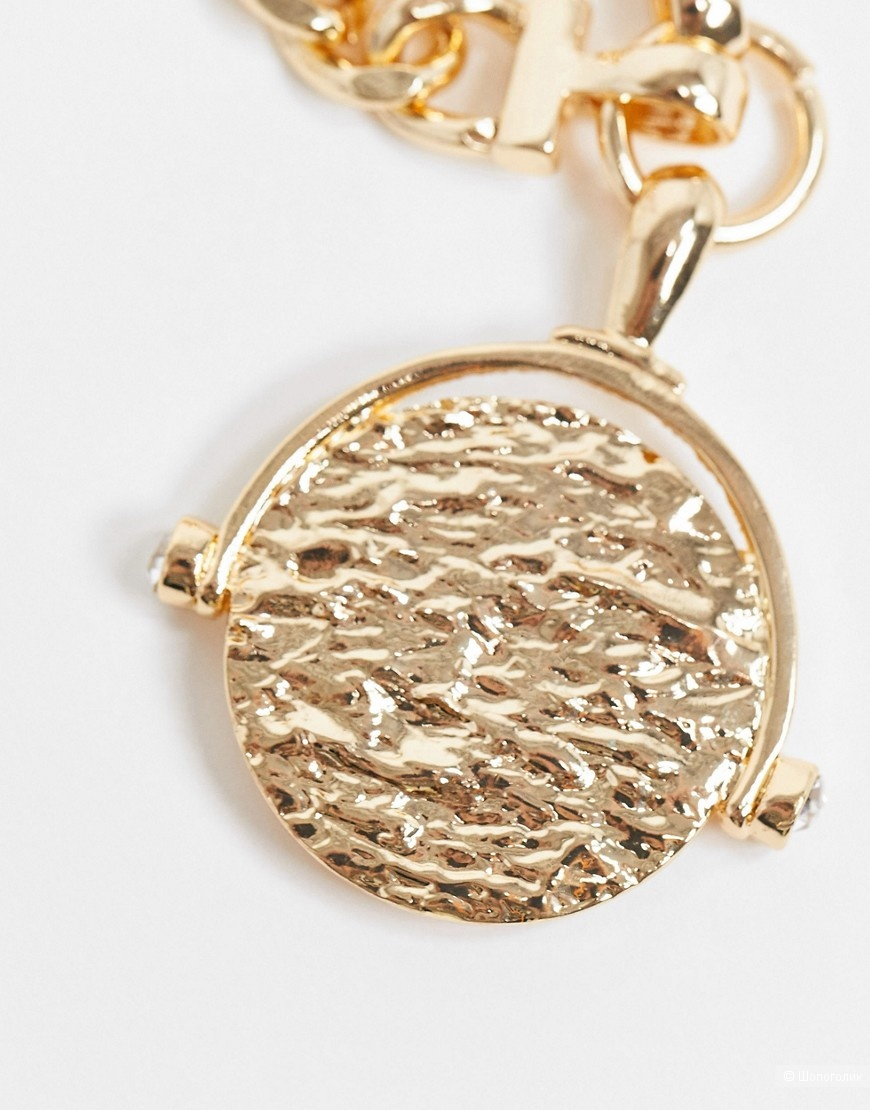 Ожерелье с подвеской в виде монетки ASOS DESIGN, one size
