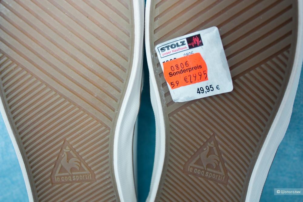 Слипоны Le Coq Sportif тапки кожаные 37-37.5 RU