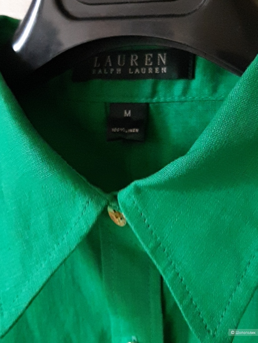 Льняная рубашка ralph rl, размер m