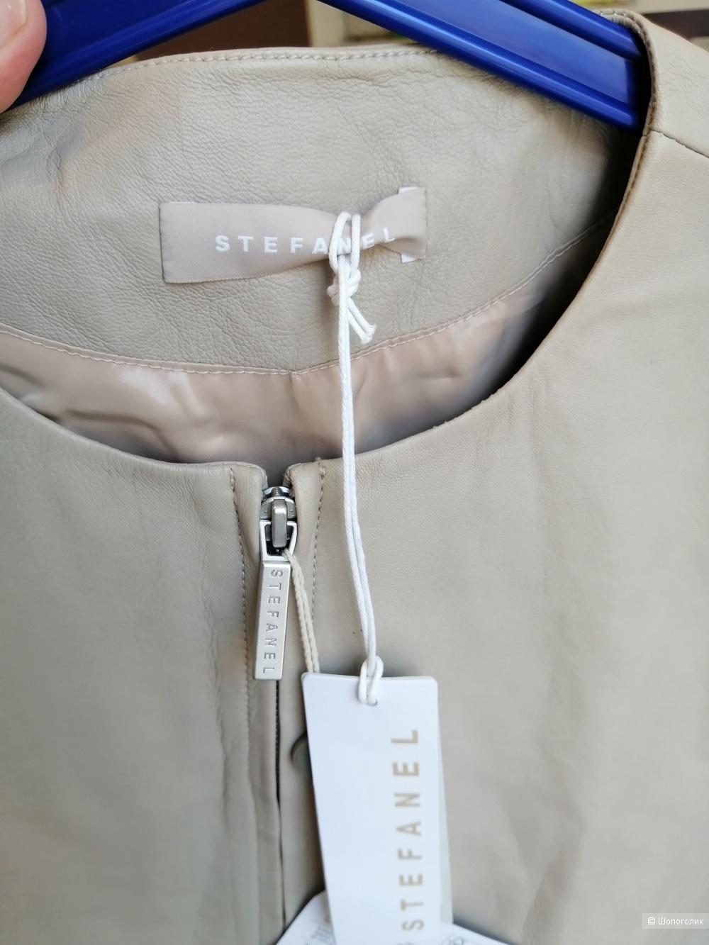 Кожаная куртка stefanel размер eu38