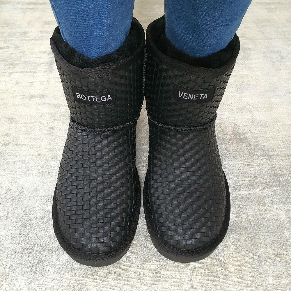 Угги Bottega Veneta женские 36/37 размер черные