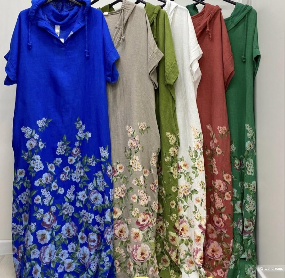 Платье макси PURE LINO FLOWERS, 44-54