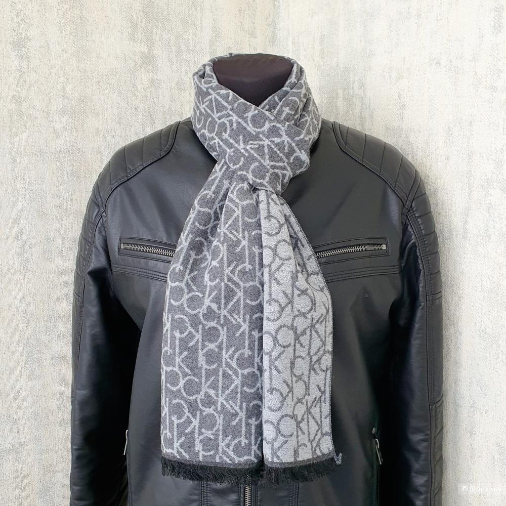 Мужской шарф Calvin Klein кашемир серый