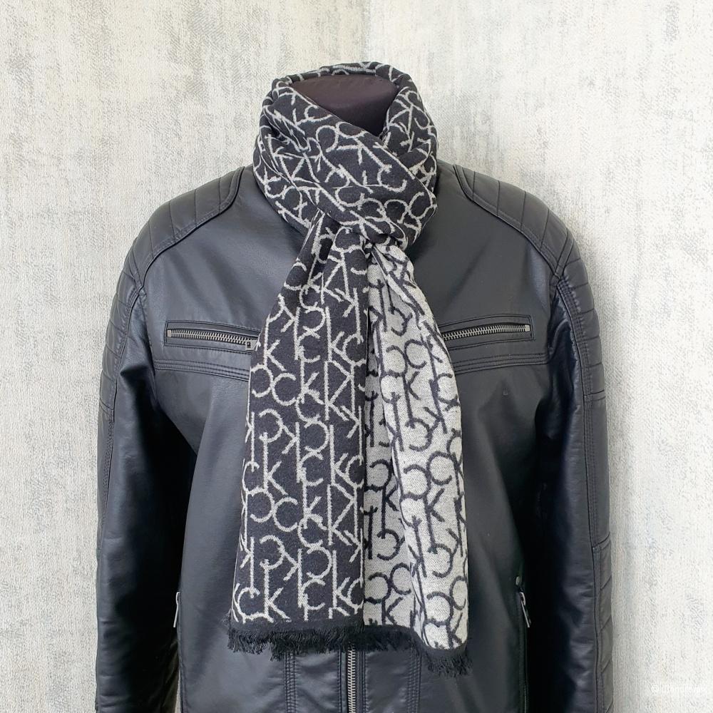 Мужской шарф Calvin Klein кашемир черный