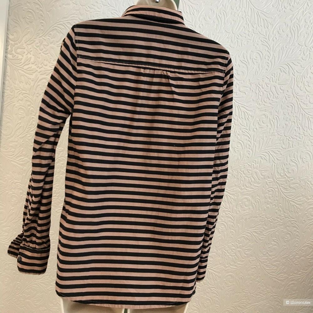 J CREW блузка/рубашка в полоску, р 42-44