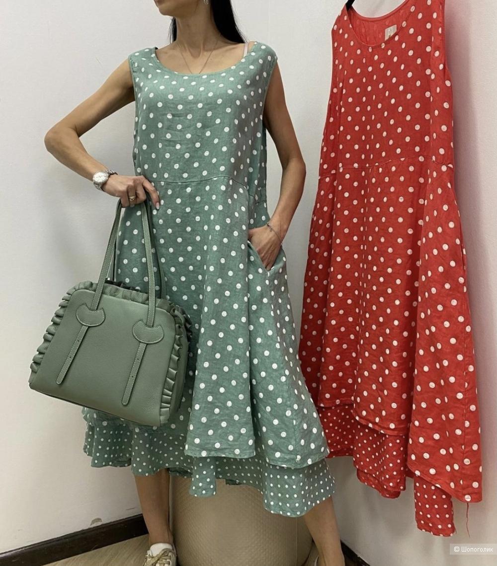 Платье сарафан двустороннее LUCKY MODE italy , one size